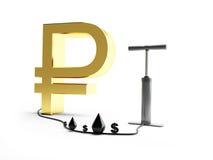 Pomprubel-Dollaröl Lizenzfreies Stockbild