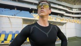 Pomyślna atleta zdjęcie wideo