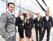 Pomyślna biznesmen drużyna Zdjęcia Royalty Free