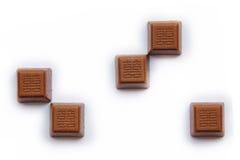 Pomyślna chińczyka znaka czekolada Fotografia Stock