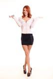 Pomyślna młoda biznesowa kobieta Zdjęcia Stock