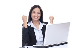 Pomyślna młoda Indiańska biznesowa kobieta Zdjęcia Royalty Free