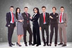Pomyślna szczęśliwa biznes drużyna Zdjęcia Royalty Free
