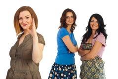 pomyślne przyjaźni kobiety Fotografia Royalty Free
