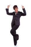 Pomyślnego amerykanina afrykańskiego pochodzenia biznesowa kobieta Zdjęcia Royalty Free