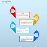 Pomyślnego biznesowego pojęcia infographic szablon Infographics z ikonami i elementami może używać dla obieg układu, diagram Fotografia Stock