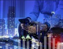 Pomyślni ludzie biznesu pracuje ludzi biznesu Oświetleniowy colo Zdjęcie Stock