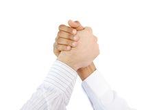 Pomyślni ludzie biznesu ręki chwiania Fotografia Stock