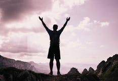 Pomyślni ludzie sportów, motywacja, inspiracja zdjęcia stock