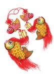 Pomyślni ryba ornamenty Zdjęcia Royalty Free