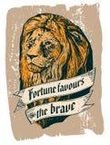 Pomyślność favours odważnego royalty ilustracja