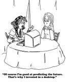 Pomyślność narrator royalty ilustracja
