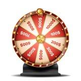 Pomyślności koła wektor Przędzalniana Szczęsliwa ruleta Loteryjny szczęście ilustracja royalty ilustracja