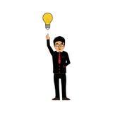 Pomyślny biznesmena biznesmena pomysł ilustracja wektor