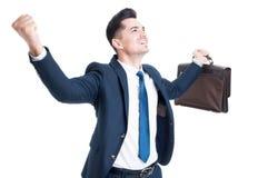 Pomyślny biznesmena lub sprzedawcy pojęcie zdjęcia royalty free