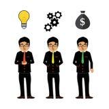 Pomyślny biznesmena pomysł ilustracja wektor