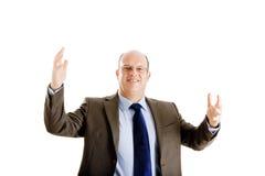 pomyślny biznesowy szczęśliwy mężczyzna obraz royalty free