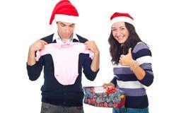 pomyślny Boże Narodzenie prezent Zdjęcie Stock