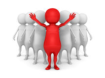 Pomyślny czerwony lider drużyny grupa Zdjęcia Stock