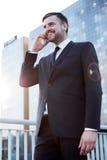 Pomyślny enterpreneur robi biznesowi Fotografia Royalty Free