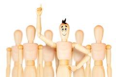 Pomyślny lider zespołu i inni biznesowi wiodący pojęcia ilustracja wektor