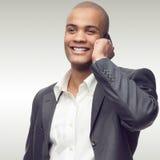 Pomyślny młody afrykański biznesmen Zdjęcie Stock