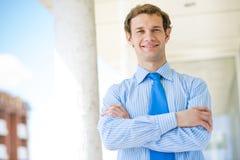 Pomyślny młody biznesmen Fotografia Royalty Free