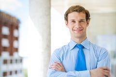 Pomyślny młody biznesmen Obrazy Stock