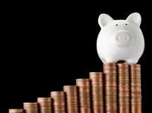 Pomyślny prosiątko bank Obraz Stock