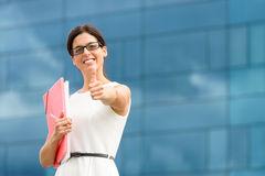 Pomyślna korporacyjna biznesowa kobieta Obraz Stock