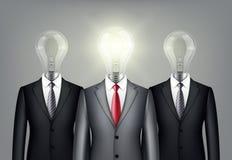 Pomyślni przywódctwo biznesmeni w kostiumu Fotografia Royalty Free