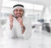 pomyślny biznesmena arabski kierownictwo Obraz Stock