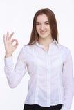 pomyślny bizneswomanu portret Zdjęcie Stock