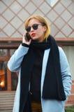 Pomyślny i ambitny bizneswoman Zdjęcia Stock