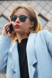 Pomyślny i ambitny bizneswoman Obraz Stock