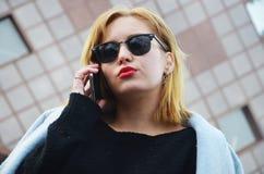 Pomyślny i ambitny bizneswoman Zdjęcie Royalty Free