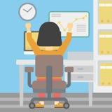 Pomyślna biznesowej kobiety wektoru ilustracja Zdjęcie Stock