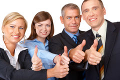 pomyślne grup biznesowych aprobaty Obraz Stock