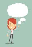 Pomysłów Dzielić Kobieta z pomysłami Przestrzeń dla teksta Obrazy Stock
