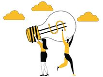 Pomysł chwyta między biznesowymi kobietami ilustracja wektor