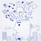Pomysł głowy mężczyzna ilustracji