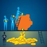 Pomysł konwertyta pieniądze pojęcie ilustracji