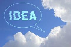 Pomysł na niebieskim niebie obraz royalty free