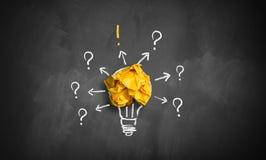 Pomysł prowadzi podążać w górę pytanie i odpowiedź zdjęcie stock