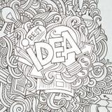 Pomysł ręki literowanie i doodles elementy Zdjęcia Royalty Free