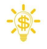Pomysł robić pieniądze ilustracja wektor