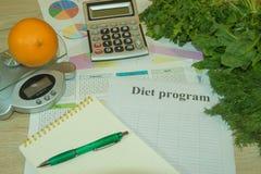 Pomysł zdrowa dieta, żywienioniowy śniadaniowy przegrywanie ciężar z pomocą owocowej diety Obrazy Royalty Free