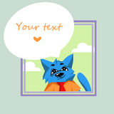 Pomysłowo błękitny kot ilustracja wektor