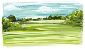 Pomysłowo krajobraz ilustracja wektor