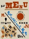 Pomysłowo restauracyjny menu projekt, ilustracji